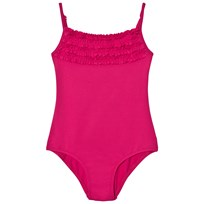 United Colors of Benetton Fuchsia Swimsuit with Frill Neckline Fuschia Pink
