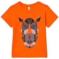 United Colors of Benetton Rhino Print T-Shirt Orange Orange