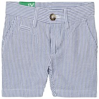 United Colors of Benetton Stripe Chino Shorts Blue/White Blue White