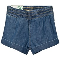 United Colors of Benetton Blue Denim Shorts Blue
