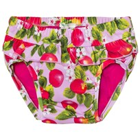 United Colors of Benetton Peaches Print Frilly Swimming Briefs Candy Pink Candy Pink