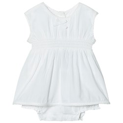 United Colors of Benetton Sleeveless A Line Dress In Organic Cotton With Hidden Knickers Beige
