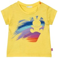 United Colors of Benetton Bunny Heart Print T-Shirt Yellow Yellow
