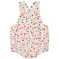 United Colors of Benetton Polka Dot Print Cotton Dunargee White White