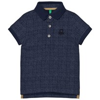 United Colors of Benetton Logo Polo Tee Navy Navy