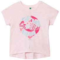 United Colors of Benetton Cotton Boxy Fit Tee Light Pink Light Pink