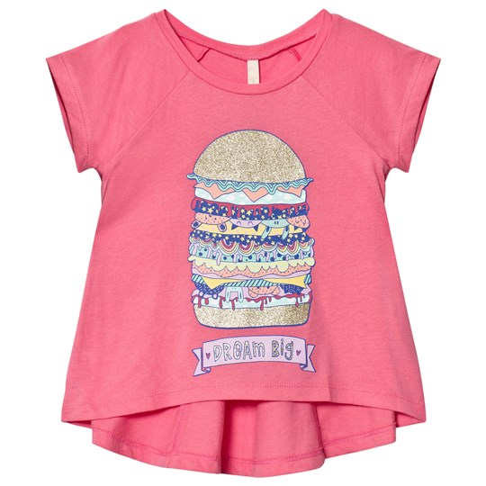 United Colors of Benetton Burger Print Tee Pink Pink