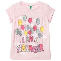 United Colors of Benetton Tee Dreamer Print Light Pink Light Pink