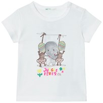 United Colors of Benetton Organic Jungle Fever Print T-Shirt White White