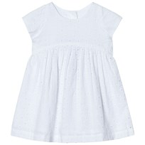 United Colors of Benetton Floral Anglaise A-Line Dress White White