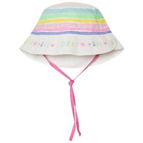 United Colors of Benetton Rainbow Stripe Sun Hat White White