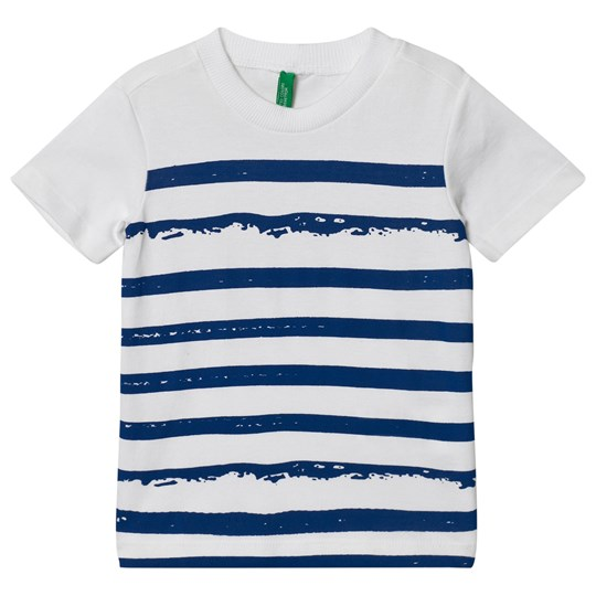 United Colors of Benetton Stripe Front Tee White White
