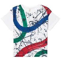 United Colors of Benetton Splash Paint Printed Tee White White