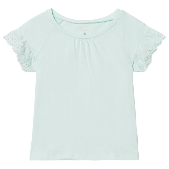 GAP Eyelet Short Sleeve Tee Aqua Sea Aqua Sea 771