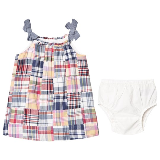 GAP Patchwork Plaid Bow Dress Patchwork Plaid