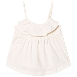 Image of GAP Ruffle Spaghetti Top Ivory Frost 2 år (3031533709)
