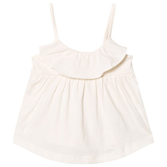 GAP Ruffle Spaghetti Top Ivory Frost IVORY FROST