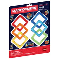 Magformers Rainbow Square 6 Piece Add-On Set Unisex