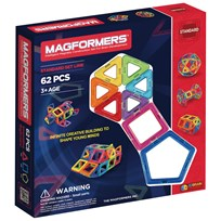 Magformers 62 Piece Rainbow Set Unisex