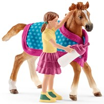 Schleich Foal with Blanket Unisex