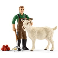 Schleich Farmer with goat Unisex
