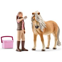 Horse Groom with Icelandic Pony Mare