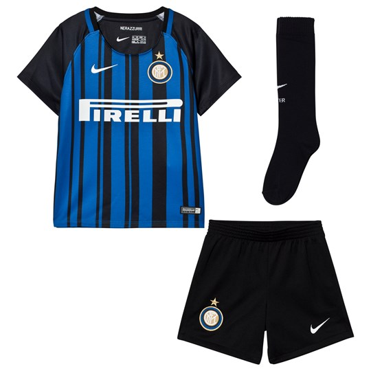 Inter Milan Inter Milan Kids Home Kit BLACK/ROYAL BLUE/WHITE