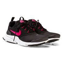 NIKE Presto Fly Junior Shoe Black/Pink BLACK/RUSH PINK-WHITE