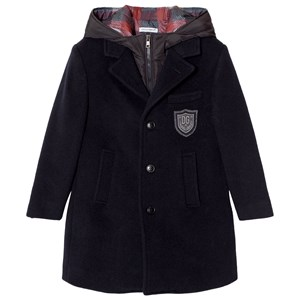 Image of Dolce & Gabbana 3 in 1 Navy Wool Coat with Gilet Layer 12 years (2743695195)