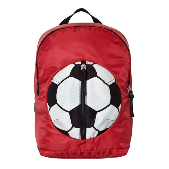 Dolce & Gabbana Red Football Backpack with Branded Plaque 80303