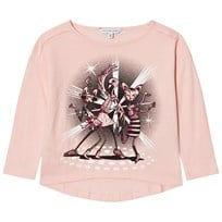 Little Marc Jacobs Pale Pink Disco Animal Print Tee 455