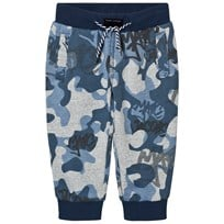 Little Marc Jacobs Blue and Grey Branded Camo Sweat Pants M48