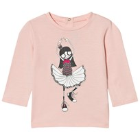 Little Marc Jacobs Pale Pink Miss Marc Ballerina Print Tee 455