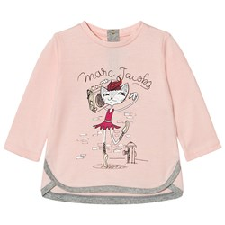 The Marc Jacobs Pale Pink Cat Ballerina Print Tee