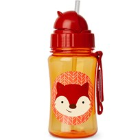 Skip Hop Zoo Straw Bottle Fox Punainen