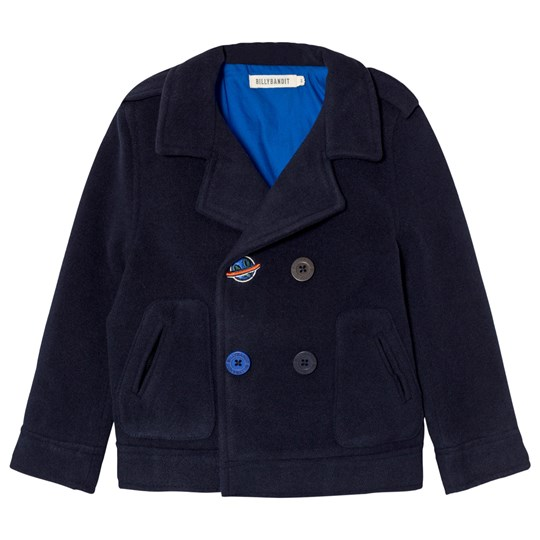 Billybandit Navy Peacoat with Space Embroidery 85T
