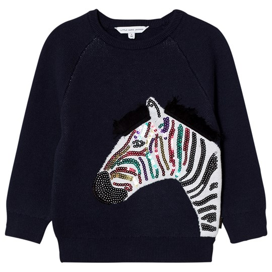Little Marc Jacobs Applique Sequin Zebra Sweatshirt Marinblå 85V
