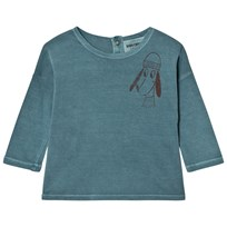 Bobo Choses Baby T-Shirt Loup Blue