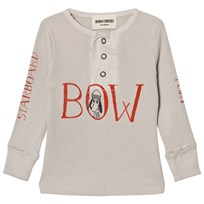 Bobo Choses Baby Buttons T-Shirt Bow Beige