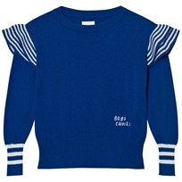 Bobo Choses Ruffles Knitted Jumper Blue Blue