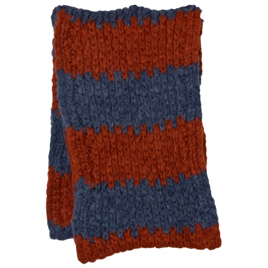 Bobo Choses Knitted Scarf Big Stripes Blue
