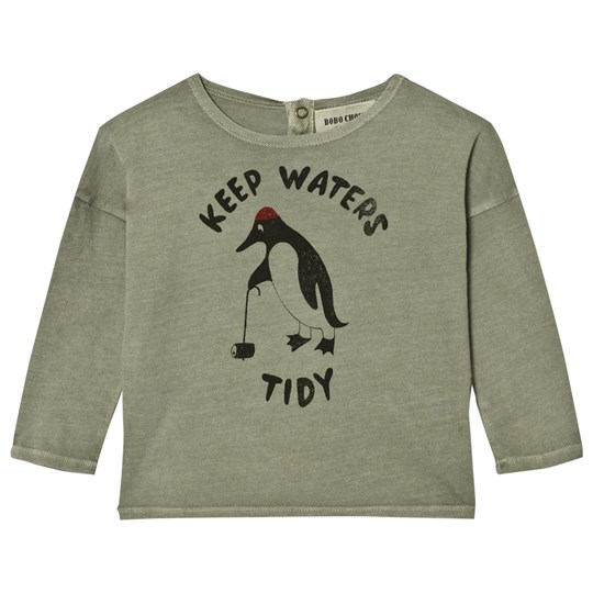 Bobo Choses Baby T-Shirt Keep Waters Tidy Green
