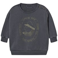 Bobo Choses Baby Sweatshirt Captain Ahab Black