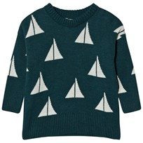 Bobo Choses Knitted Jumper Alma Green