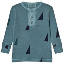 Bobo Choses Baby Buttons T-Shirt Sails Blue