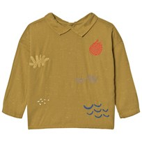 Bobo Choses Buttons Blouse Sea Junk Embroidery Yellow