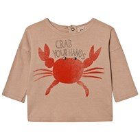 Bobo Choses Baby T-Shirt Crab Your Hands BROWN