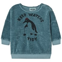 Bobo Choses Baby Sweatshirt Keep Waters Tidy Blue