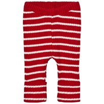 Bobo Choses Baby Randiga Stickade Leggings Röd Red