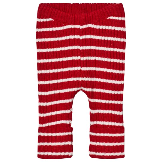 Bobo Choses Baby Knitted Leggings Stripes Red Red